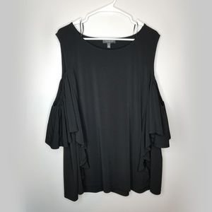 The Limited Plus size 3x cold shoulder ruffle top